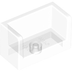 Trans-Clear Panel 1 x 2 x 1 with Rounded Corners and 2 Sides