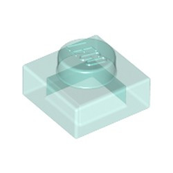 Trans-Light Blue Plate 1 x 1 - used