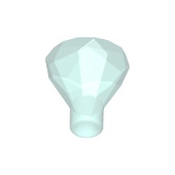 Trans-Light Blue Rock 1 x 1 Jewel 24 Facet - used