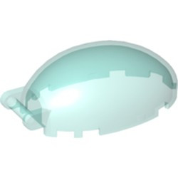 Trans-Light Blue Windscreen 6 x 4 x 2 1/3 Bubble Canopy with Bar Handle
