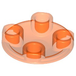 Trans-Orange Plate, Round 2 x 2 with Rounded Bottom (Boat Stud)