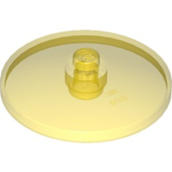 Trans-Yellow Dish 4 x 4 Inverted (Radar) with Open Stud - new