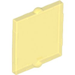 Trans-Yellow Glass for Window 1 x 2 x 2 Flat Front