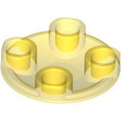 Trans-Yellow Plate, Round 2 x 2 with Rounded Bottom (Boat Stud) - new