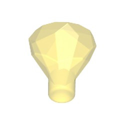 Trans-Yellow Rock 1 x 1 Jewel 24 Facet - new