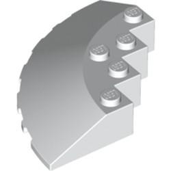White Brick, Round Corner 6 x 6 with Slope 33 Edge, Facet Cutout