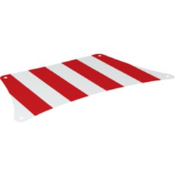 White Cloth Sail 33 x 17 Top with Red Thick Stripes Pattern - new
