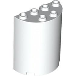 White Cylinder Half 2 x 4 x 4 - used
