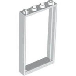 White Door, Frame 1 x 4 x 6 with 2 Holes on Top and Bottom