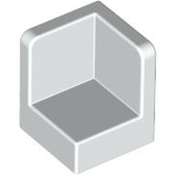 White Panel 1 x 1 x 1 Corner - new