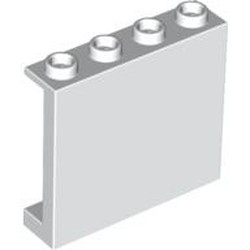White Panel 1 x 4 x 3 with Side Supports - Hollow Studs