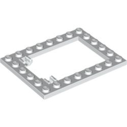 White Plate, Modified 6 x 8 Trap Door Frame Horizontal (Long Pin Holders)