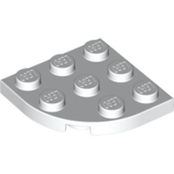 White Plate, Round Corner 3 x 3 - new