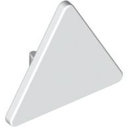 White Road Sign 2 x 2 Triangle with Clip - used