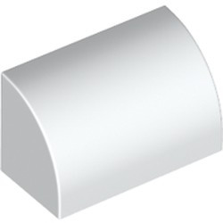 White Slope, Curved 1 x 2 x 1