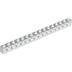 White Technic, Brick 1 x 16 with Holes - new