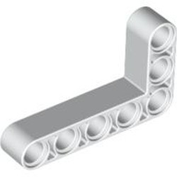 White Technic, Liftarm 3 x 5 L-Shape Thick - new