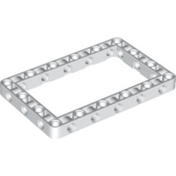 White Technic, Liftarm 7 x 11 Open Center Frame Thick - new