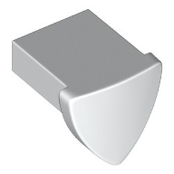 White Tile, Modified 1 x 1 with Tooth / Ear Vertical, Triangular