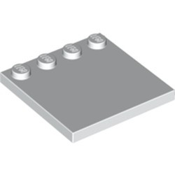 White Tile, Modified 4 x 4 with Studs on Edge