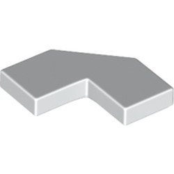 White Tile, Modified Facet 2 x 2 Corner with Cut Corner