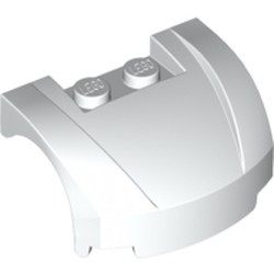 White Vehicle, Mudguard 3 x 4 x 1 2/3 Curved Front