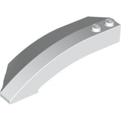 White Wedge 8 x 3 x 2 Open Right