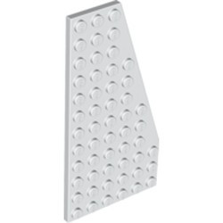 White Wedge, Plate 12 x 6 Right - used