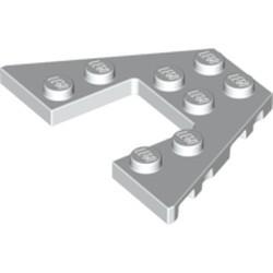 White Wedge, Plate 4 x 6 - new
