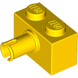 Yellow Brick, Modified 1 x 2 with Pin - used