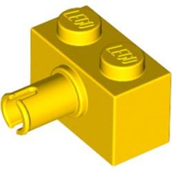 Yellow Brick, Modified 1 x 2 with Pin