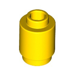 Yellow Brick, Round 1 x 1 Open Stud - new