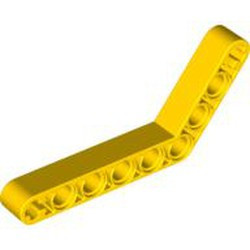Yellow Technic, Liftarm, Modified Bent Thick 1 x 9 (6 - 4) - used