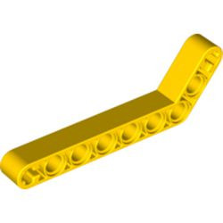 Yellow Technic, Liftarm, Modified Bent Thick 1 x 9 (7 - 3) - used