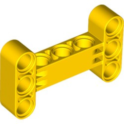 Yellow Technic, Liftarm, Modified H-Shape Thick 3 X 5 Perpendicular
