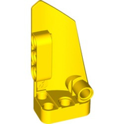 Yellow Technic, Panel Fairing # 3 Small Smooth Long, Side A
