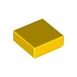 Yellow Tile 1 x 1 with Groove