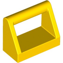 Yellow Tile, Modified 1 x 2 with Bar Handle - new