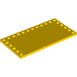 Yellow Tile, Modified 6 x 12 with Studs on Edges