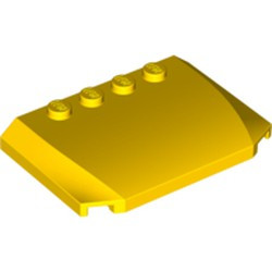Yellow Wedge 4 x 6 x 2/3 Triple Curved - new