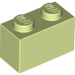 Yellowish Green Brick 1 x 2