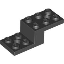 Black Bracket 5 x 2 x 1 1/3 with 2 Holes - new