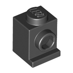 Black Brick, Modified 1 x 1 with Headlight