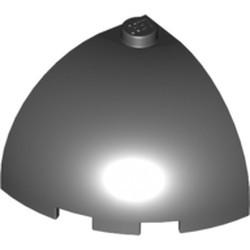 Black Brick, Round Corner 3 x 3 x 2 Dome Top - used