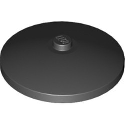 Black Dish 4 x 4 Inverted (Radar) - new with Solid Stud