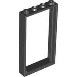 Black Door, Frame 1 x 4 x 6 with 2 Holes on Top and Bottom