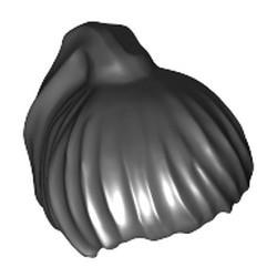 Black Minifigure, Hair Female Ponytail - used