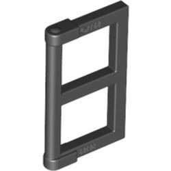 Black Pane for Window 1 x 2 x 3 with Thick Corner Tabs
