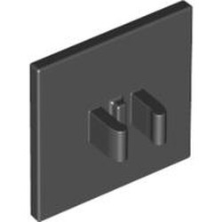 Black Road Sign 2 x 2 Square with Clip