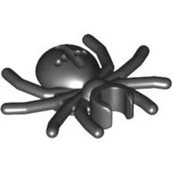 Black Spider with Round Abdomen and Clip - used